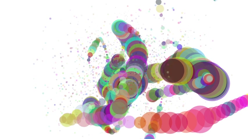 Soft colors 3D curved line abstract rainbow