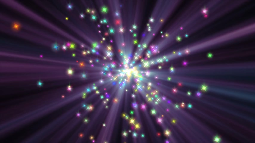 patlamak : stars particle color explosion ray in space