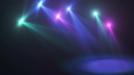 Stage lights moving motion background 4k