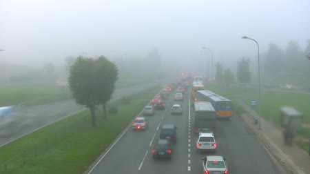 morning : Morning traffic in the fog