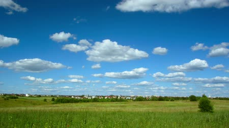 time lapse clouds : clouds landscape and village