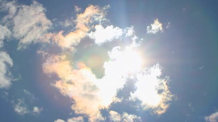 time lapse clouds : Sun and clouds Stock Footage