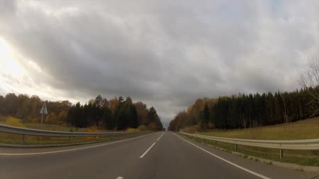 drive : Autumn road, timelapse