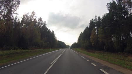 time journey : Autumn road, timelapse