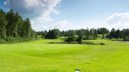 kurs : golf course, time-lapse Wideo