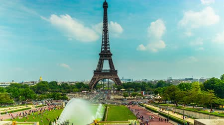 башни : The Eiffel Tower in Paris, 4K time-lapse