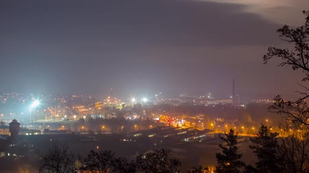 kodaň : Night city, panoramic time-lapse, Vilnius Lithuania