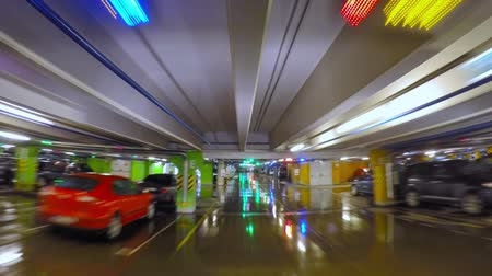 parc automobile : Parking souterrain, time-lapse