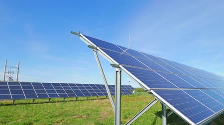 панель : Solar panels and rural landscape