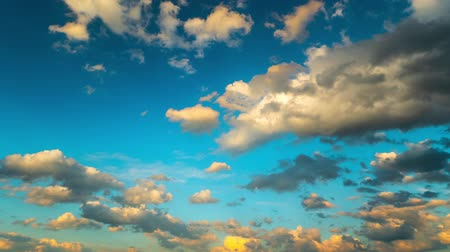 dark sky : Clouds in the blue sky, time-lapse Stock Footage