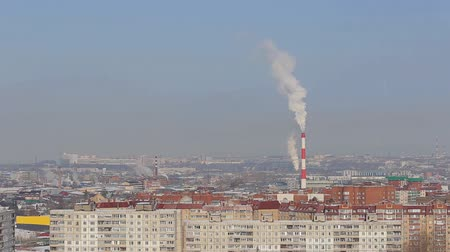fosilní : Rubber Products Plant Emitting Steam
