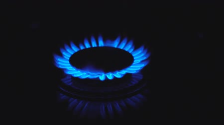 culinair : Blue Gas Vlam in Slow Motion