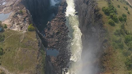 Виктория : Aerial Shot of Victoria Falls in Zambia