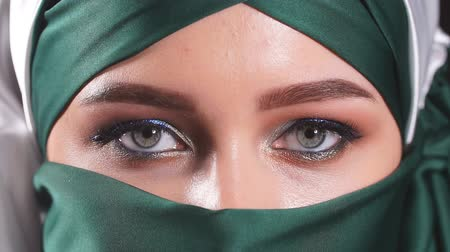 kelet : Beautiful Woman in Middle Eastern Niqab veil.