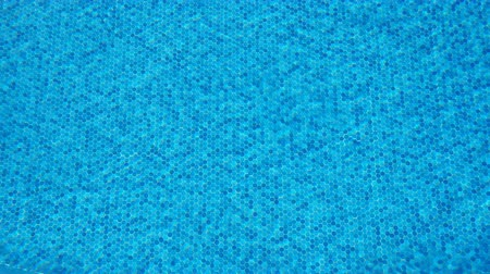 dazzle : Blue water rippled background in swimming pool Stock Footage