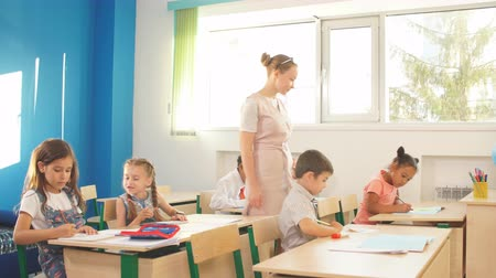 saygı : Female High School Teacher Taking Class in high school