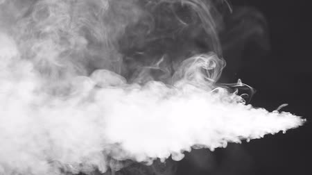 scatters : White smoke squirting and floating in space, black background