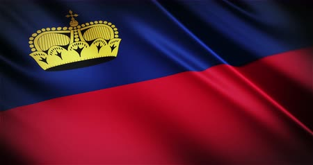 árbocszalag : Liechtenstein national flag seamless looping waving animation, the best choice for presentation!
