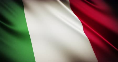 foka : Italy national flag seamless looping waving animation, the best choice for presentation!