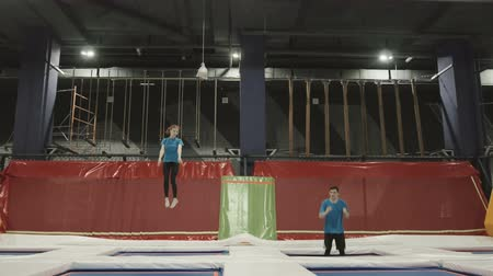gimnastyka : Cinemagraph of a Trampoline Jumping