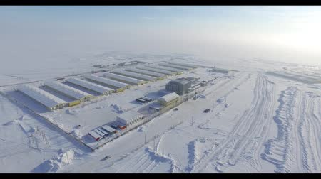 şantiye : video shooting of the plant in winter