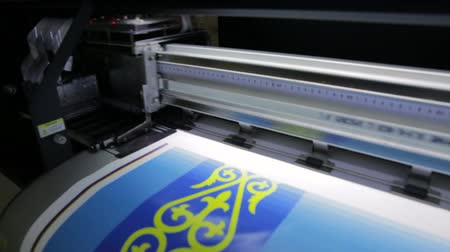 Printer is working,Production technology in the printing