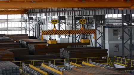 pulling rope : Close up of a factory overhead crane