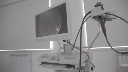 sonography : a medical equipment background, close-up ultrasound machine. Ultrasound diagnostic equipment