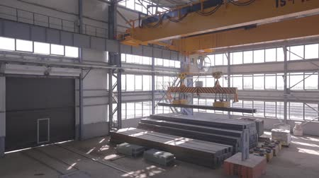 pulling up : Close up of a factory overhead crane