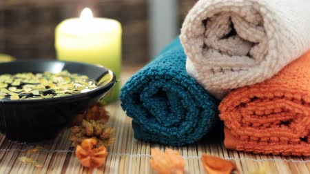 mimos : Spa accessories. candles, towels,flower