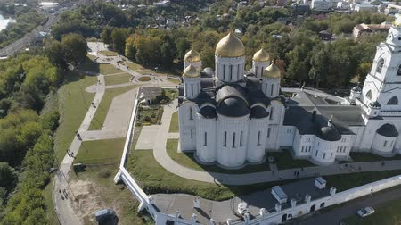 Flight of the Assumption Cathedral in Vladimir. Aerial video shooting. Dostupné videozáznamy