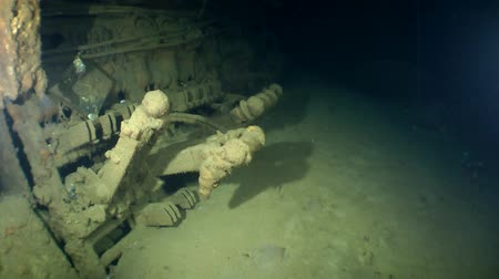 torpedo : Electrical breakers in the electromechanical compartment of the sunken submarine.