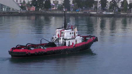 The port tug at the port of Batumi.
