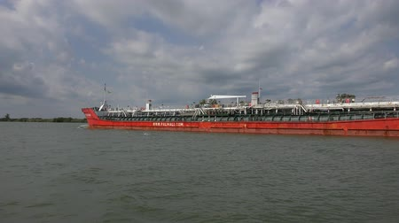 The tanker on the Danube River.