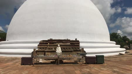 anuradhapura : Anuradhapura, Sri Lanka, the view from the front of a small Buddha 4K