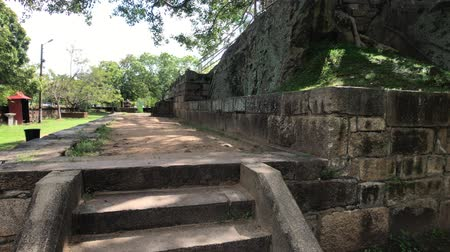 шри : Anuradhapura, Sri Lanka, view of the Park stairs 4K