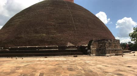 anuradhapura : Anuradhapura, Sri Lanka, view of Dagoba from the site in front of the temple 4K