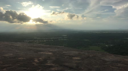 Sigiriya, Sri Lanka, the sun behind the clouds 4K