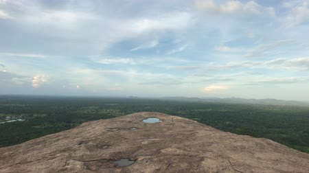 Sigiriya, Sri Lanka, view from the mountain in the distance part 2, 4K