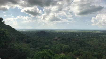 anuradhapura : Mihintale, Sri Lanka, beautiful clouds in the distance 4K Stock Footage