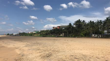 Negombo, Sri Lanka, wide city beach 4K