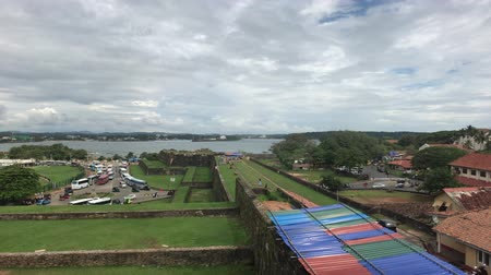 Galle, Sri Lanka, view from fortress to river 4K