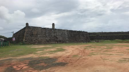 bitki : Galle, Sri Lanka, the main wall of the fortress 4K Stok Video