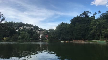Kandy, Sri Lanka, lake view from the side of the temple 4K