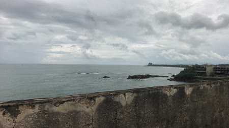 Galle, Sri Lanka, calm ocean near the fortress 4K