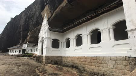 Dambulla, Sri Lanka, part of the cave entrance 4K