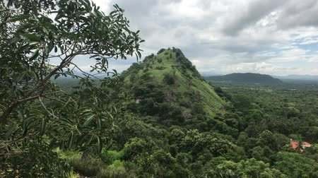 Dambulla, Sri Lanka, green hill near the temple 4K