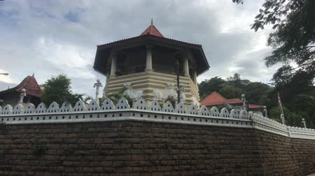 Kandy, Sri Lanka, view of the gazebo in the temple 4K