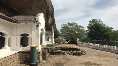 Dambulla, Sri Lanka, temple grounds and cave entrance 4K