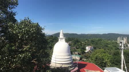 Kandy, Sri Lanka, view of the dome of Dagoba from the side roof 4K